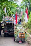 印度尼西亚人民庆祝独立日 库存图片
