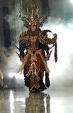 印度尼西亚传统布料蜡染布 免版税库存照片