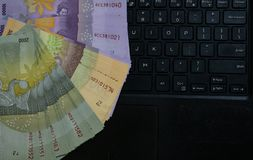 印度尼西亚卢比金钱 库存图片