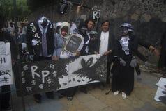 印度尼西亚反腐败战争威胁 库存照片