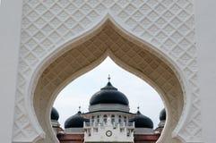 印度尼西亚回教建筑学,班达亚齐 免版税库存图片