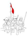 印度尼西亚士兵准备好对战争 向量例证