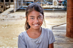 印度尼西亚女孩画象在塔娜Toraja 库存照片