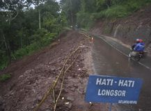印度尼西亚季风风险 库存图片