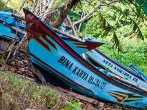 印度尼西亚小船 免版税库存照片