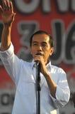 印度尼西亚政治-庆祝Joko维多多胜利的音乐会作为presiden新当选的 图库摄影