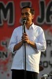 印度尼西亚政治-庆祝Joko维多多胜利的音乐会作为presiden新当选的 免版税库存照片