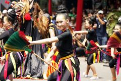 印度尼西亚文化狂欢节 免版税库存照片