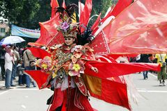印度尼西亚文化狂欢节 库存图片