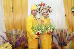 印度尼西亚新娘夫妇 免版税库存图片