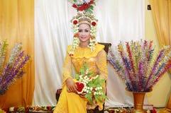 印度尼西亚新娘 免版税库存照片