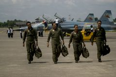 印度尼西亚新的空军队喷气式歼击机提案 免版税图库摄影