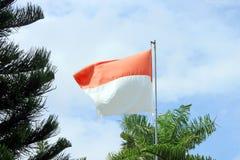 印度尼西亚旗子-国家标志 免版税库存照片