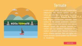 印度尼西亚概念设计三个城市 免版税库存图片