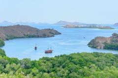印度尼西亚海岛komodo国家公园rinca 库存图片