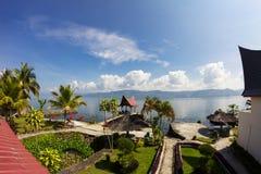 印度尼西亚湖苏门答腊户田 库存照片