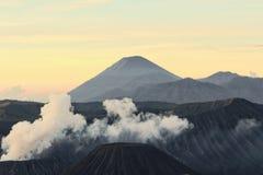 印度尼西亚火山 免版税库存图片