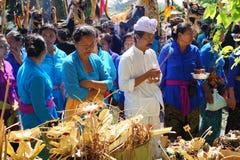 印度尼西亚火葬仪式 库存照片