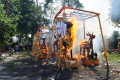 印度尼西亚火葬仪式 库存图片