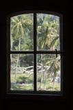 印度尼西亚灯塔窗口视图 免版税库存图片