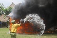 印度尼西亚灾害损失 免版税库存图片