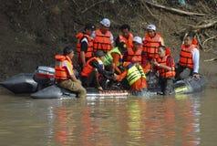 印度尼西亚灾害训练 库存图片