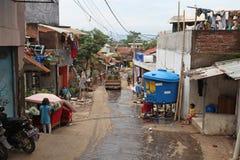 印度尼西亚灾害暴洪-加鲁特002 库存照片