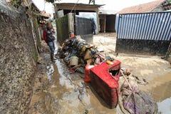 印度尼西亚灾害暴洪-加鲁特021 免版税库存图片