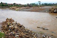 印度尼西亚灾害暴洪-加鲁特037 库存照片
