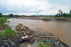 印度尼西亚灾害暴洪-加鲁特034 免版税库存照片