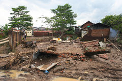 印度尼西亚灾害暴洪-加鲁特024 免版税库存图片