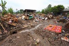 印度尼西亚灾害暴洪-加鲁特023 库存照片