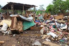 印度尼西亚灾害暴洪-加鲁特025 库存照片