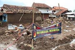 印度尼西亚灾害暴洪-加鲁特032 免版税图库摄影