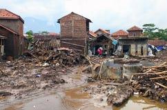 印度尼西亚灾害暴洪-加鲁特033 库存照片