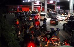 印度尼西亚燃料挑战 库存照片