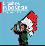 印度尼西亚独立日 库存图片