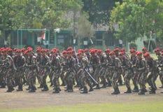 从印度尼西亚的特种部队(Kopassus)军事 免版税库存图片