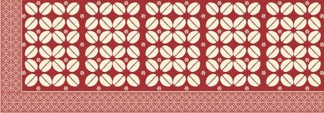 从印度尼西亚的蜡染布 图库摄影