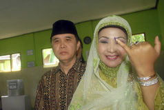 印度尼西亚的选举门限 库存图片