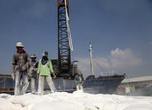 印度尼西亚端口工作者 库存照片