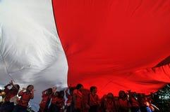 印度尼西亚美国独立日的庆祝 图库摄影