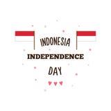 印度尼西亚美国独立日 也corel凹道例证向量 免版税库存图片