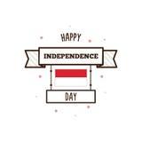 印度尼西亚美国独立日 也corel凹道例证向量 库存图片