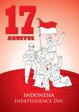 印度尼西亚美国独立日 免版税图库摄影