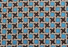 印度尼西亚蜡染布布料的详细的样式 库存照片