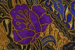 印度尼西亚蜡染布模式 库存照片