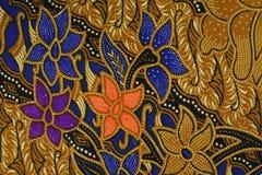 印度尼西亚蜡染布模式 免版税图库摄影