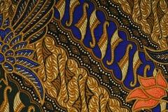 印度尼西亚蜡染布模式 图库摄影