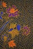印度尼西亚蜡染布模式 免版税库存图片